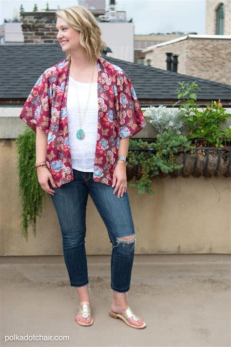 kimono jacket pattern diy boho kimono jacket tutorial allfreesewing com