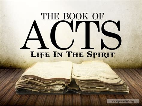 sermon by topic the book of acts in the spirit