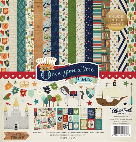 once upon a time collection once upon a time prince 12x12 collection kit by echo park for scrapbooks cards crafting