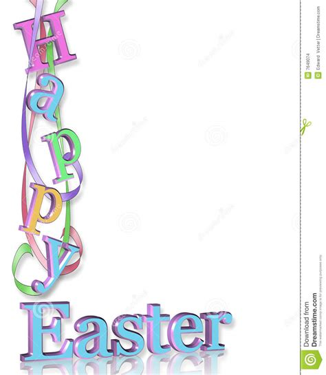 Spring Decoration by Happy Easter Border Stock Illustration Image Of Greeting