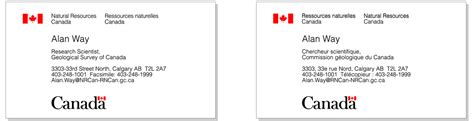canadian id card template business cards common flag symbol canada ca