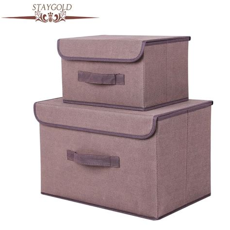 Cotton Storage stay gold cotton and liene storage box with cap 2 size