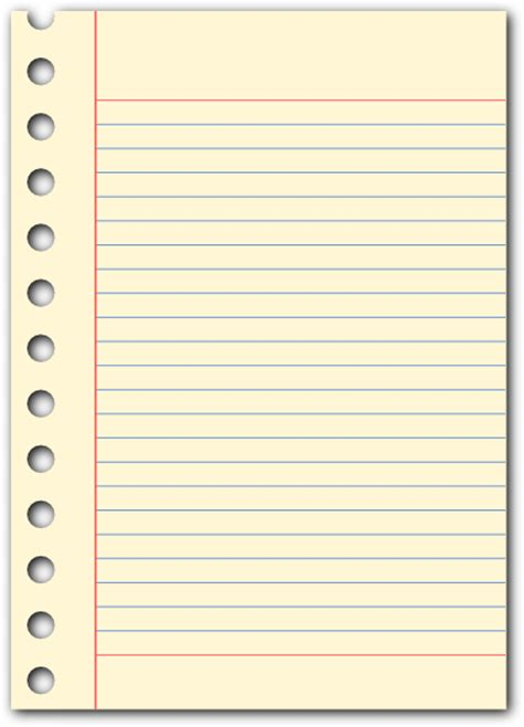 notepad template clipart best