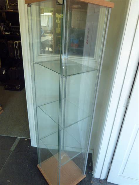 ikea detolph detolf glass display cabinet ebay