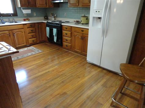 beautiful laminate floor in kitchen traditional