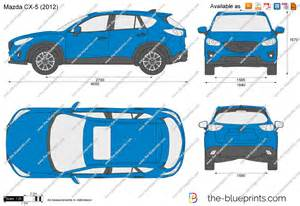 the blueprints vector drawing mazda cx 5