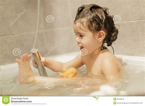 girl bathroom videos bathing royalty free stock image image 31996676