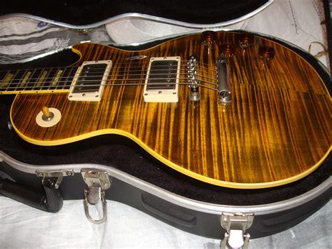 Gitar Gibson Les Paul Joe Perry Electric Guitar gibson joe perry boneyard les paul green tiger with stopbar image 294923 audiofanzine