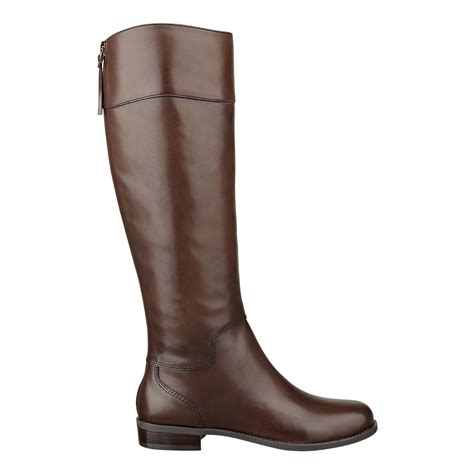 nine west leather boots nine west counter boot in brown brown leather lyst