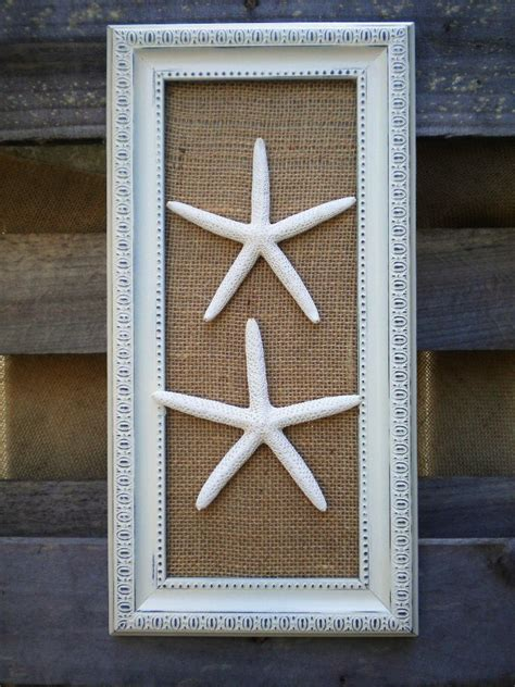 starfish home decor cottage chic framed sea shells home decor framed starfish