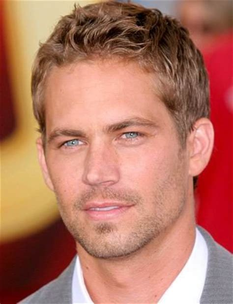 male celebrities with short blonde hair male celebrities paul walker and short hairstyles on