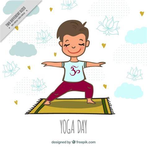 imagenes de niños haciendo yoga fondo fe ni 241 o de simp 225 tico ni 241 o haciendo yoga en una