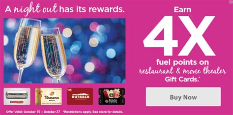 Kroger Gift Cards 4x Points - 4x kroger fuel points on select gift cards points miles martinis