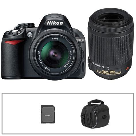 nikon d3100 digital slr kit with 18 55mm 13290 b h