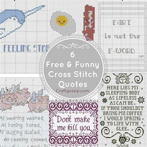 Cross Stitch Pattern Free Quotes | funny cross stitch charts cross stitch