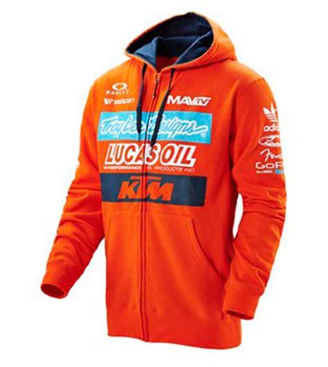 troy lee design ktm hoodie aomc mx 2016 ktm troy lee designs factory zip hoodie