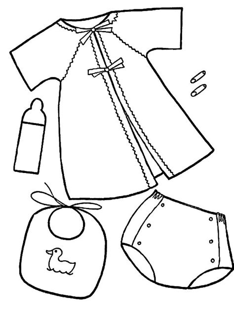 imagenes para colorear ropa ropa de bebe para colorear