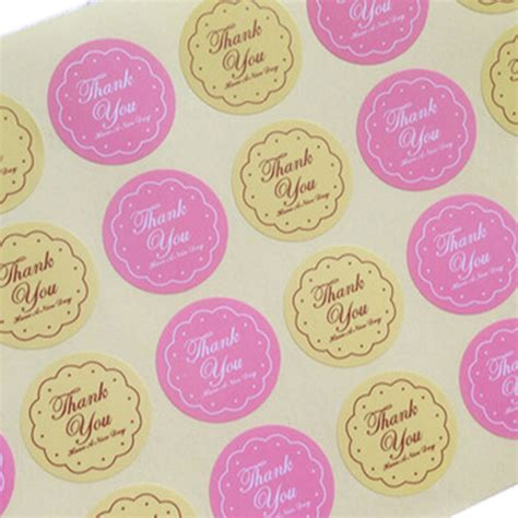 Sticker Pengiriman Shipping Label Isi 48 Pcs No 39 48pcs yellow pink colors thank you design sticker labels food seals gift stickers for wedding