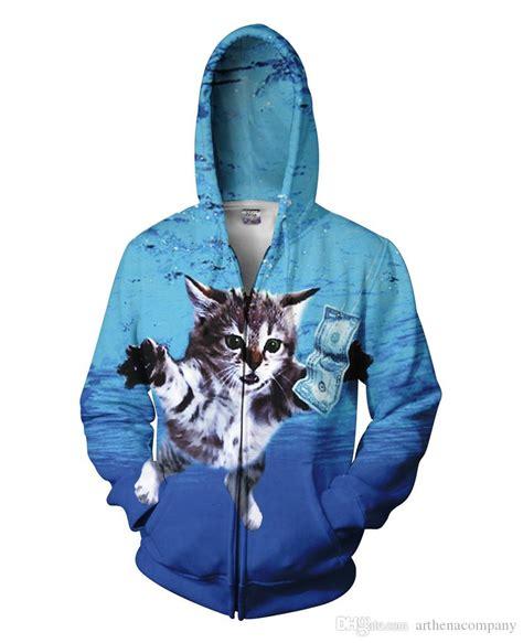 Hoodie Zipper Anak G2 Esports Navy 2017 cat cobain zip up hoodies 3d print mens womens cool