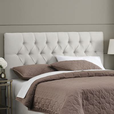 buy micro suede tufted headboard size color white