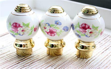 ceramic finials bed posts porcelain door knobs floral door