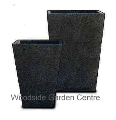 Large Black Planters Black Terrazzo Square Taper Pot Planters Woodside Garden