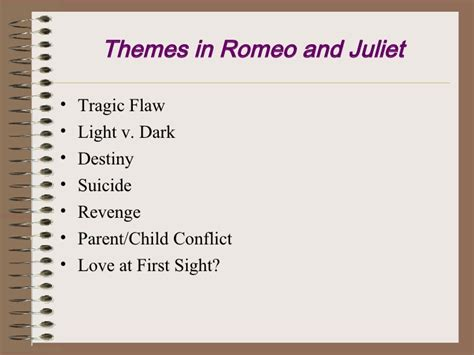 romeo and juliet themes revenge lights camera action