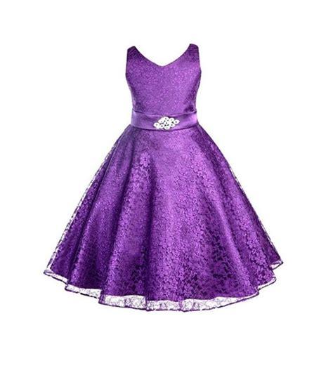 Dress Pricill Kid Purple wear dress flower lace children