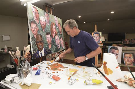 george w bush bathtub painting searching for george w bush in his portraits of the