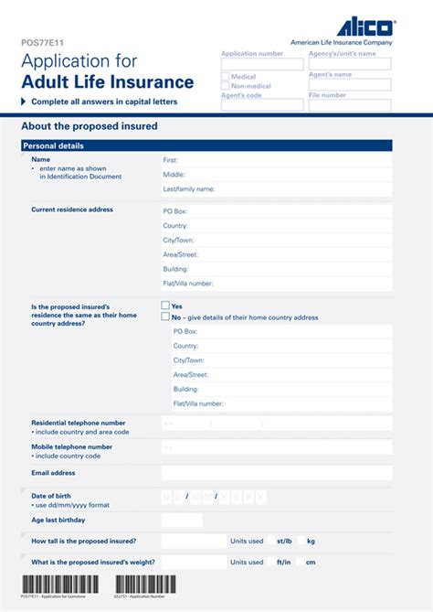 Resume Ei Application Insurance Application Form Sle Resumes