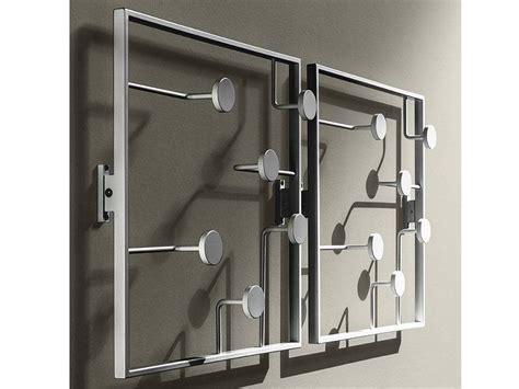 appendiabiti da ingresso a parete attaccapanni da parete bonny in metallo laccato 50 x 50 cm