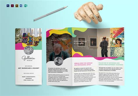 design art brochure event and artistic tri fold brochure design template in