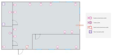 electrical floor plan electric and telecom plans solution conceptdraw