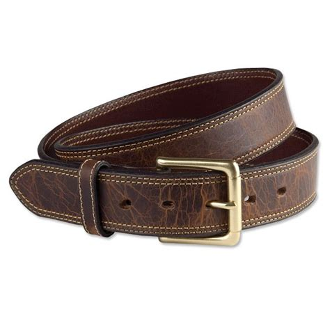 orvis mens bison leather belt american bison leather