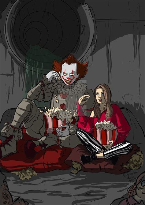 film anime horreur pennywise party by spizzina00 deviantart com on