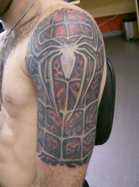 spiderman tribal tattoo half sleeve designs for tattoomagz