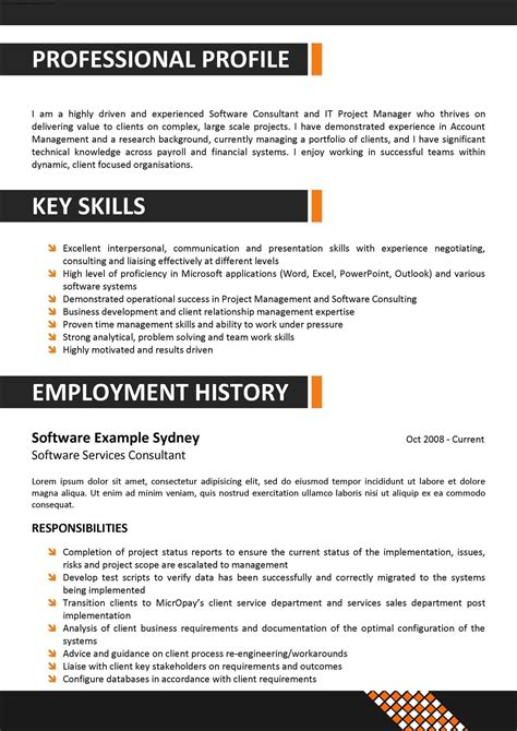 Corporate Resume Template corporate resume template free sles exles