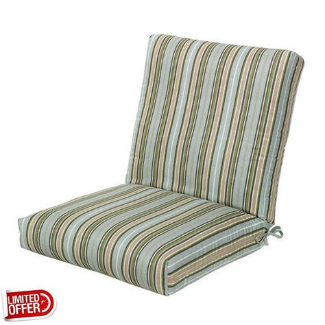 22 Inch Outdoor Chair Cushions by Sale Cilantro Stripe Sunbrella Outdoor Chair Cushion