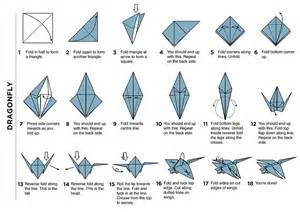 How To Make An Origami Dragonfly - fabric mural launch pupuren