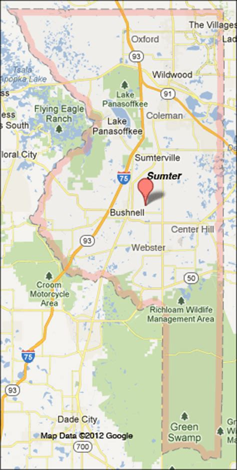 map of bushnell florida sumter county florida map