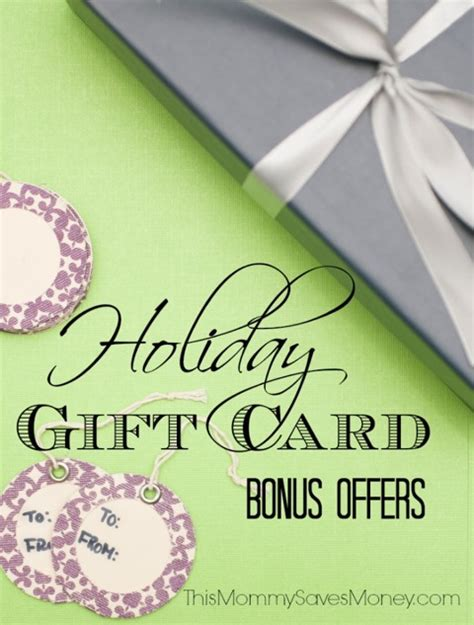 Gift Card Incentives - holiday gift card bonus offers this mommy saves money