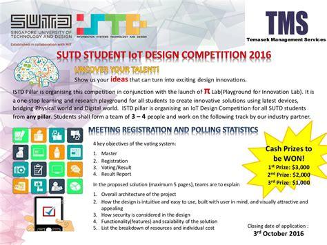 iot design contest mouser sutd student internet of things iot design competition