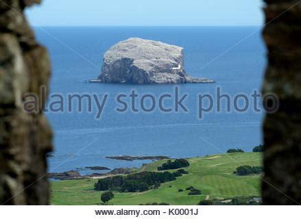 bass rock berwick east lothian scotland stock