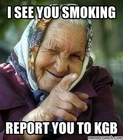 Smoking Memes - no smoking babushka
