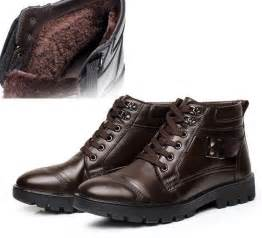 men ankle boots dress work casual snow winter warm