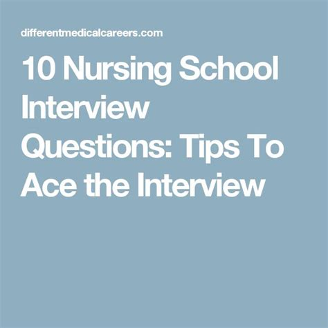 10 Tips To Ace That by 1000 Ideas About Nursing Schools On Nursing
