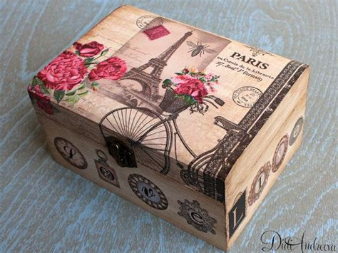 Decoupage Box Ideas - wooden jewelry box personalized box decoupage box shabby