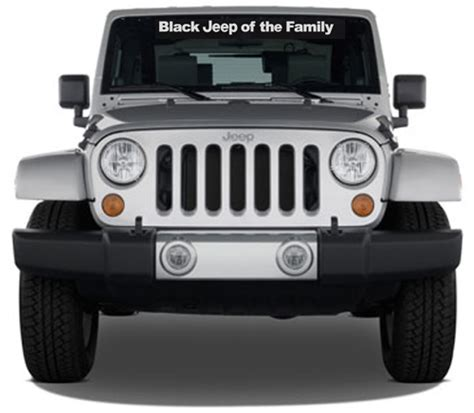 jeep family stickers black jeep of the family windshield decal and similar items