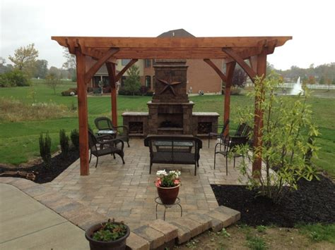 Outdoor Fireplace Pergola by Davenport Project Pergola Fireplace Kitchen In