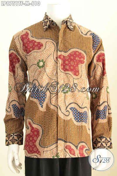 Kemeja Atasan Panjang Pria Nn Lp 288 hem batik mewah lengan panjang untuk kerja dan rapat desain formal motif bagus proses tulis